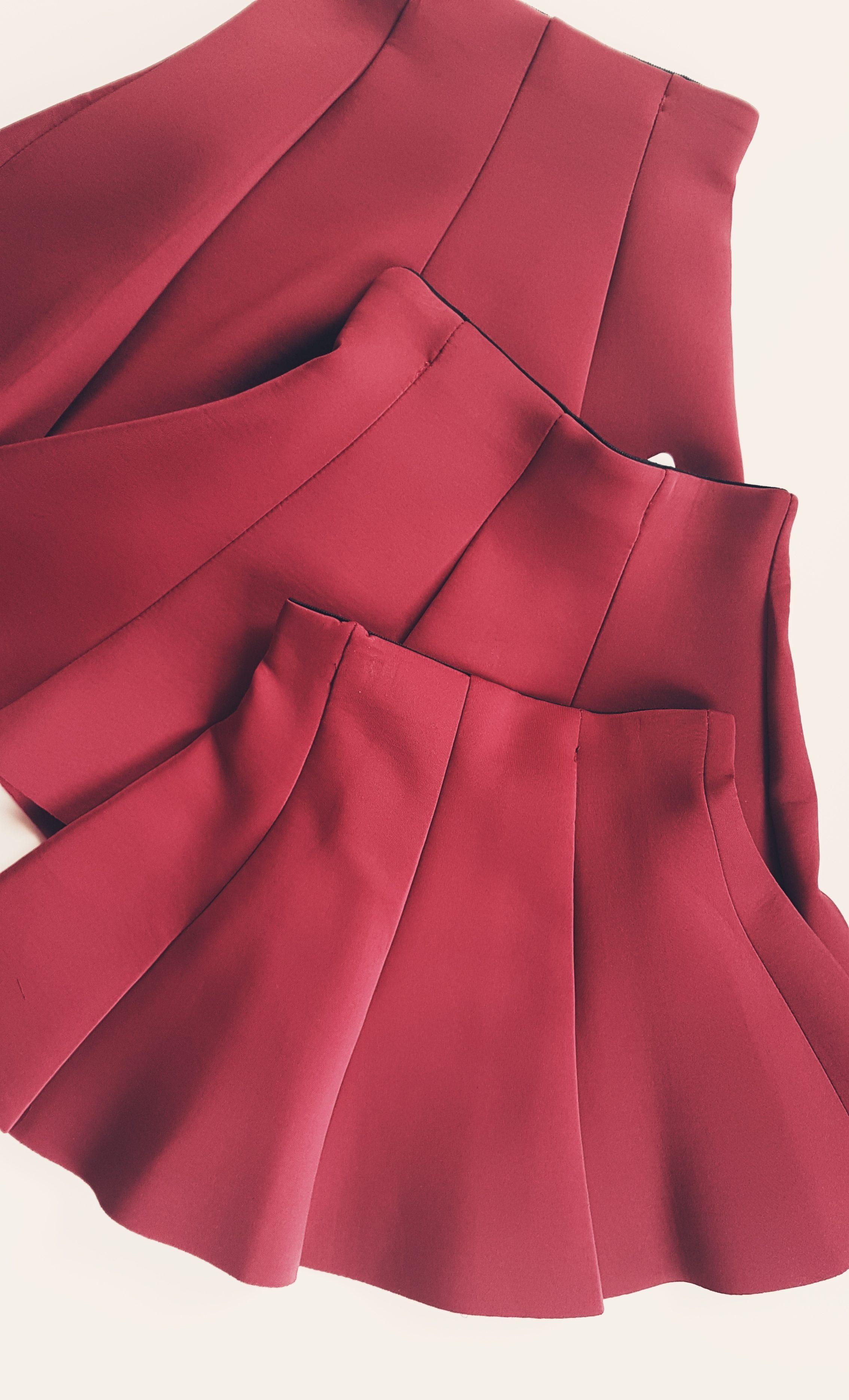 Bordová suknička